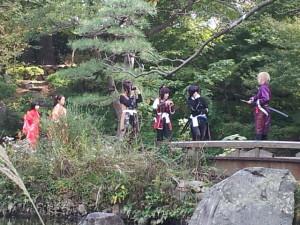 小倉城庭園でコスプレ