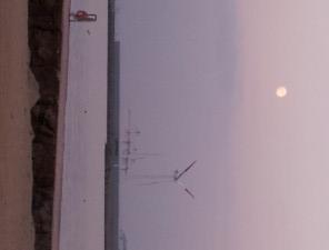 夕暮れ時の海の風景