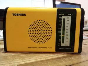 東芝の防水ラジオ