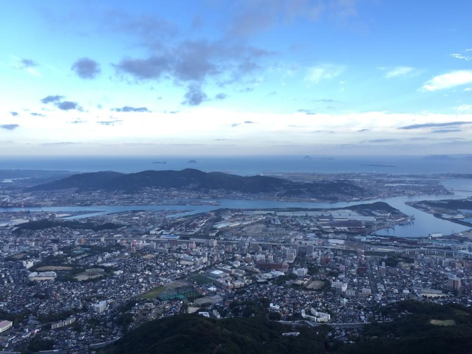 皿倉山からの眺め最高