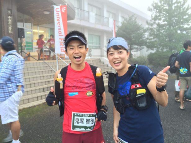 ゲストランナーの鬼塚智徳選手と宮崎喜美乃選手