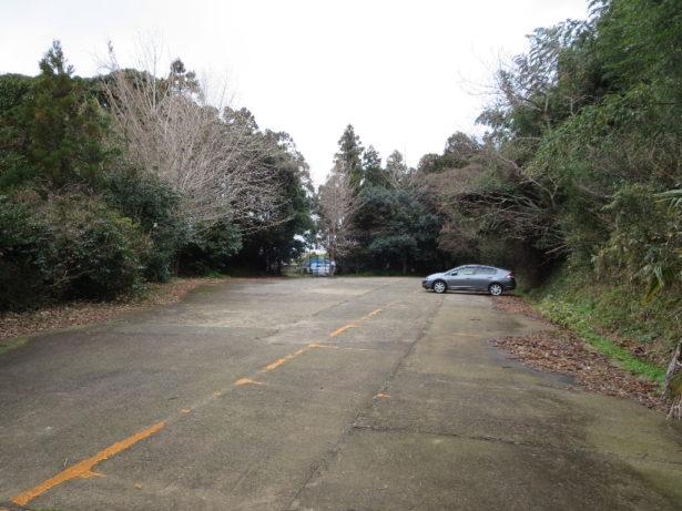 承福寺上の駐車場