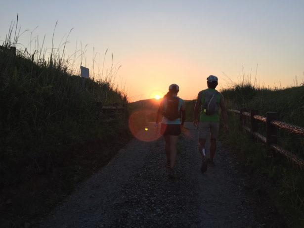 平尾台中峠での日の出