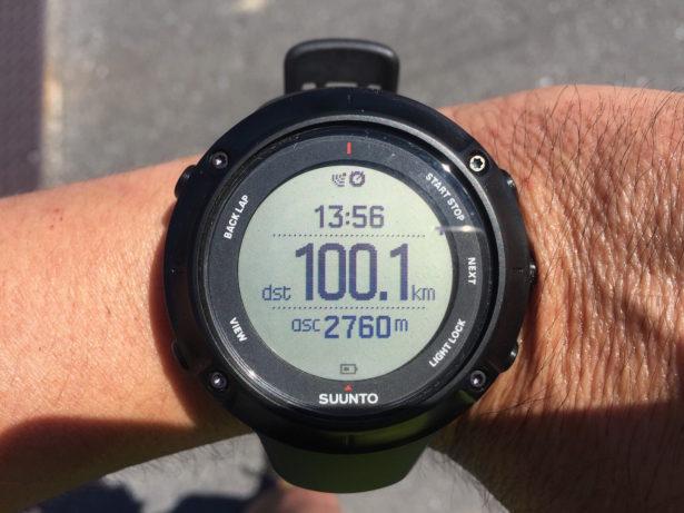 100キロ越えました