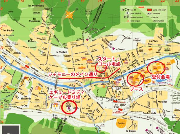 シャモニーの地図