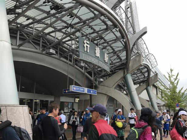 大会当日の行橋駅の模様