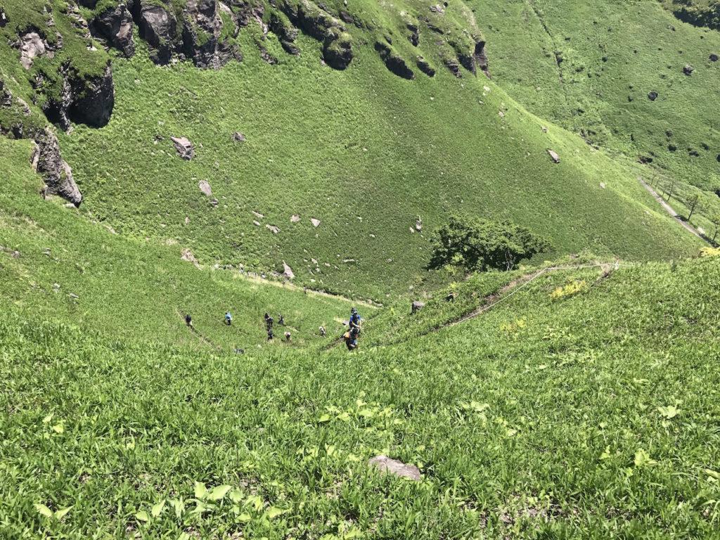 フェレ峠に似た大観峰までの坂
