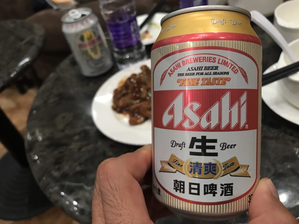 ガマンできずについビール